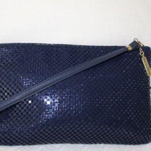 Whiting & Davis ,Blue Metal Mesh, Detachable Strap